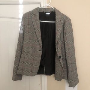 Plaid Womens Blazer size Medium